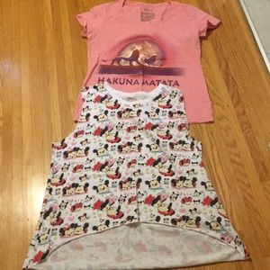 Lot of 2 Disney Tops - Size Large